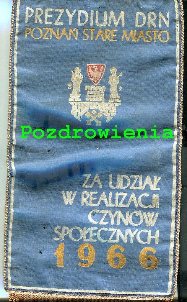 Proporczyk- Prezydium DRN Poznań St. Miasto- 1966r