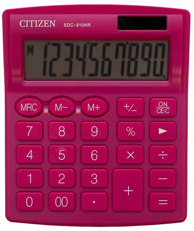 Kalkulator biurowy CITIZEN SDC-810NRPKE różowy