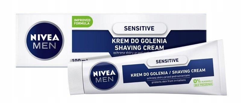 NIVEA FOR MEN Krem do golenia Sensitive 100ml