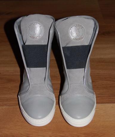 Botki sneakersy szare 40 roberto exclusive srebrne