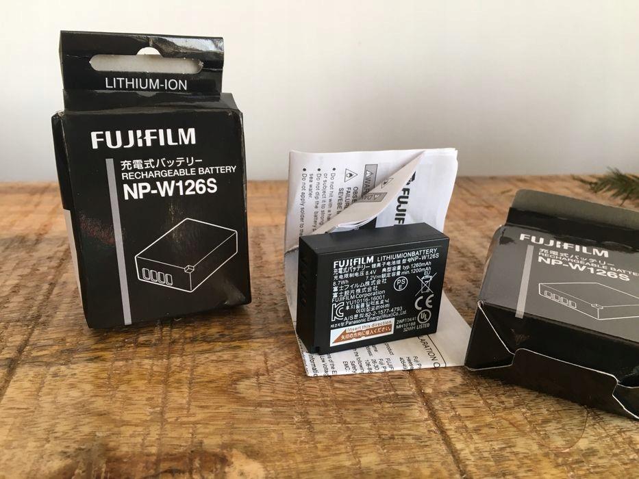 Akumulator Fujifilm NP-W126S 2szt + Nitecore FX1