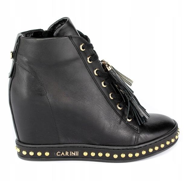 Sneakersy Carinii Czarne B4463 Botki Buty Kobiety B4463 E50