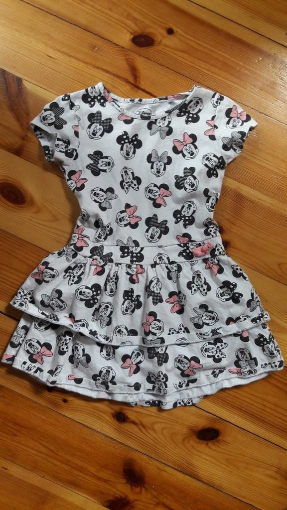 sukienka Myszka Minnie Disney c&a falbanki 110