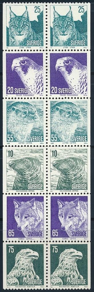 SZWECJA 1973 ZWIERZĘTA Michel 820/825 ** BCM