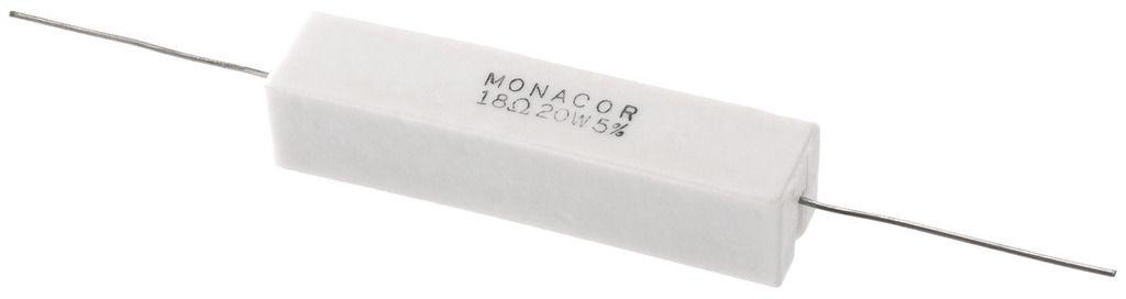 Monacor Rezystor ceramiczny niemiecki 20W 18,00Ohm