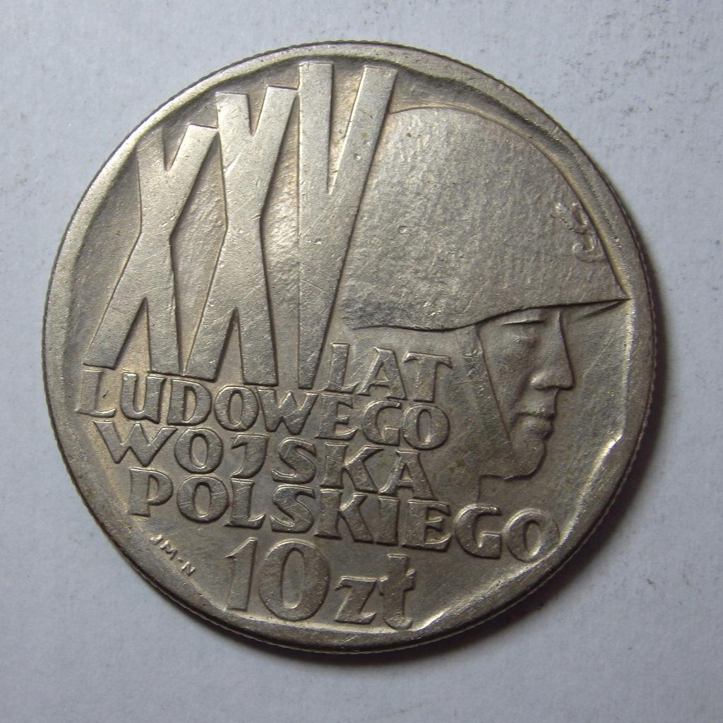 10zł XXV Lat Lud. Wojska Pol 1968r. PRL BCM(6407n)
