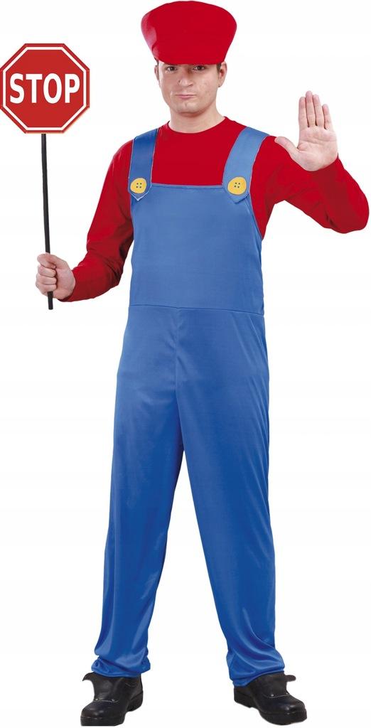 Fiestas Guirca kostium Mario mens poliester blue m