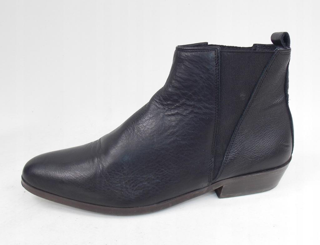 botki OFICE j ALDO skórzane eleganckie czarne 37