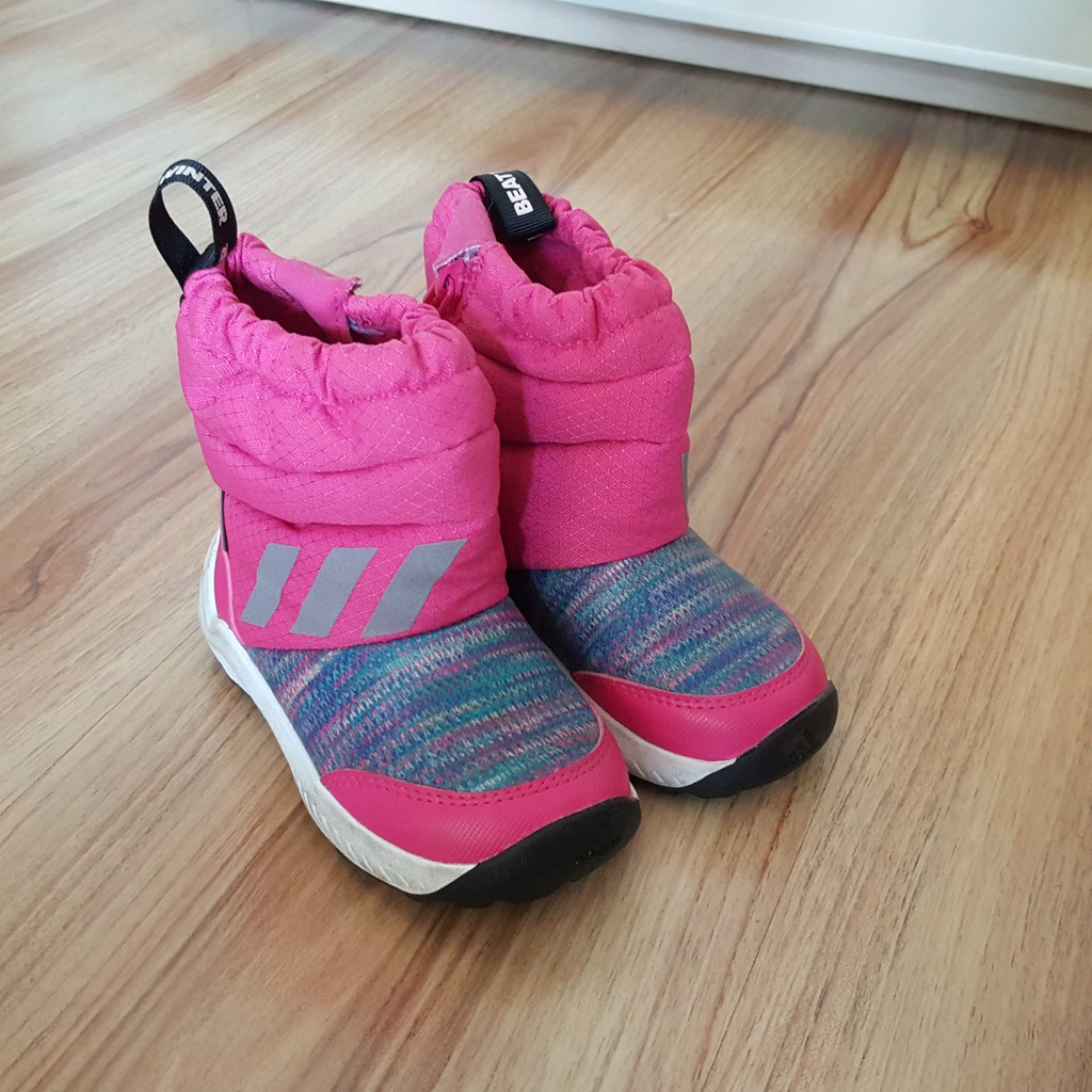Buty Adidas zimowe r.22 różowe