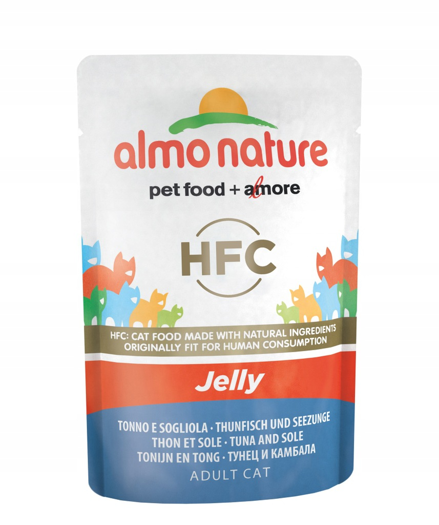 ALMO NATURE HFC Jelly - tuńczyk i sola 55 g