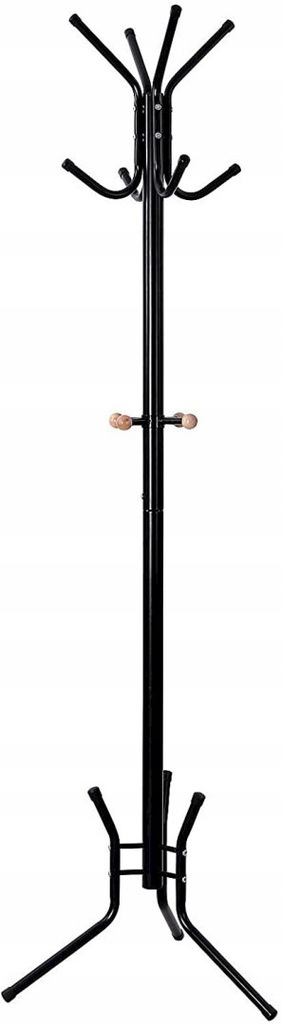 Stylish Metal Coat Rack Stand Hanger 12 hooks 176