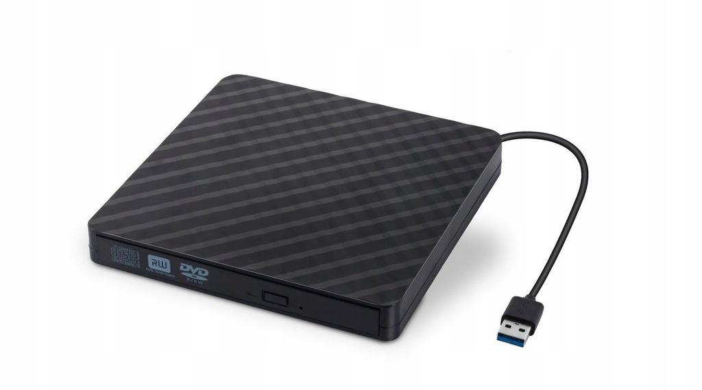 Zewnętrzna Nagrywarka DVD USB 3.0 Czarna