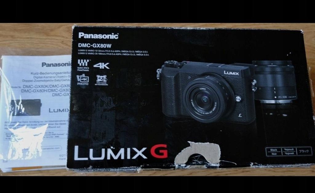 Panasonic Lumix Dmc Gx80 plus dodatki na gwarancji