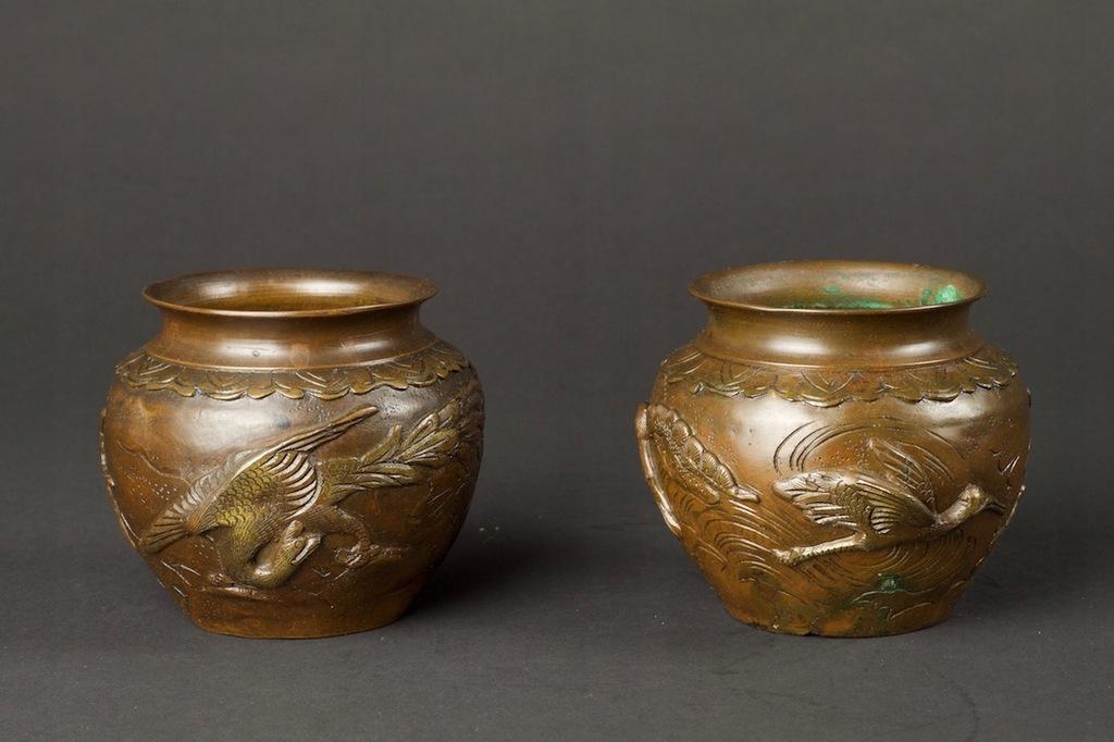 Para wazoników, brąz, Japonia, Meiji (1868-1912)