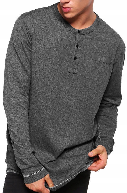 G-STAR RAW regular CLASSIC SZARY long sleeve M