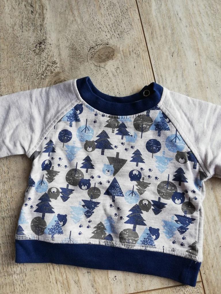 Ciepła bluza w misie dla chłopca 0-5 miesiecy