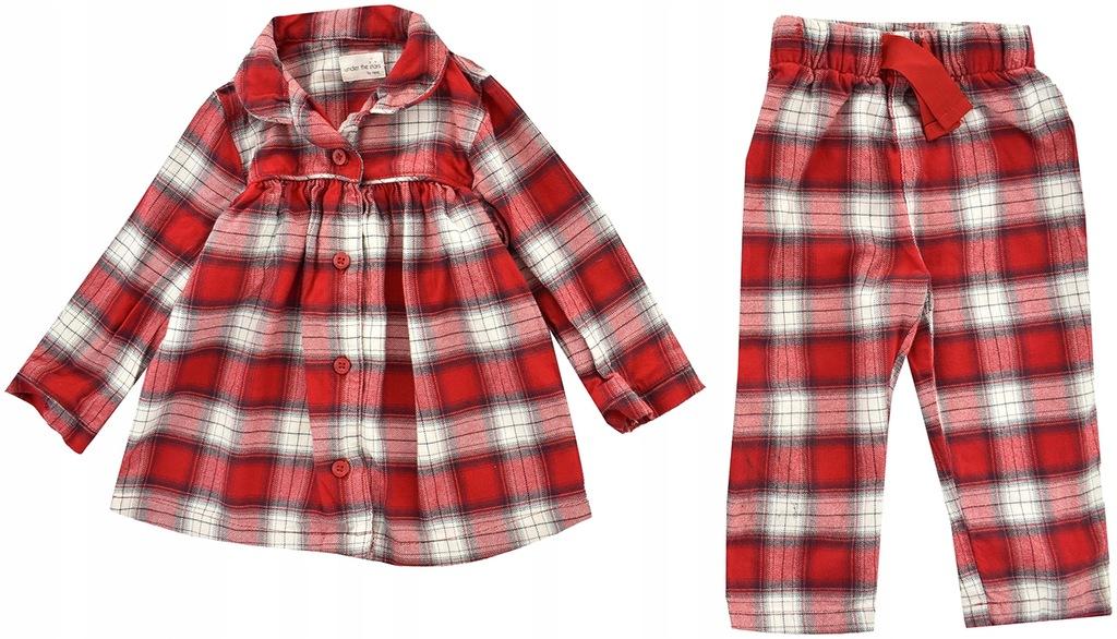 oBY9537 NEXT piżama w kratę 86
