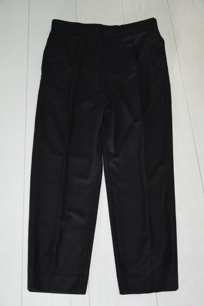 cos baggy czarne spodnie wełna kaszmir 46/S