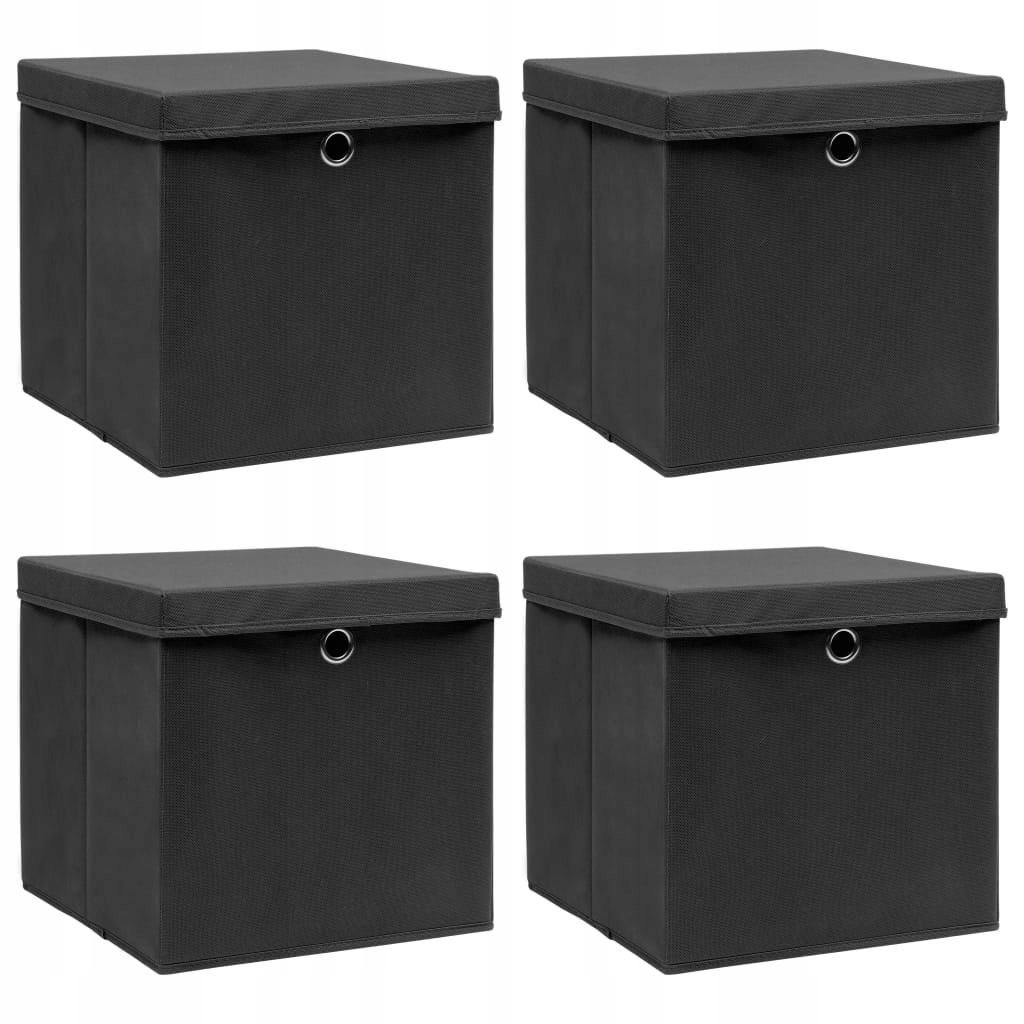 S1J Pudełka z pokrywami, 4 szt 32x32x32 cm,