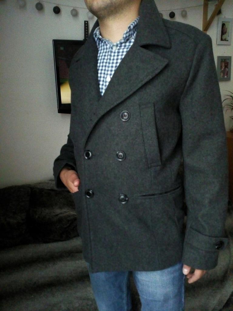 H&M wełniany męski płaszcz EUR 46