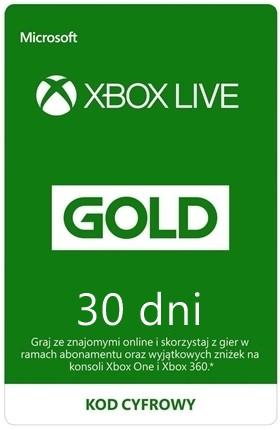 XBOX LIVE GOLD 1 MIESIĄC KLUCZ