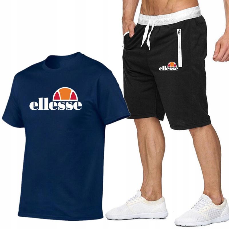 T-shirt GRANATOWY + Spodenki Ellesse R XL MPA STYL