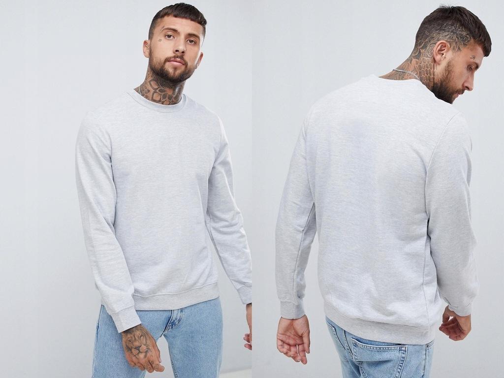 Bershka - Bluza w jasnoszarym kolorze L