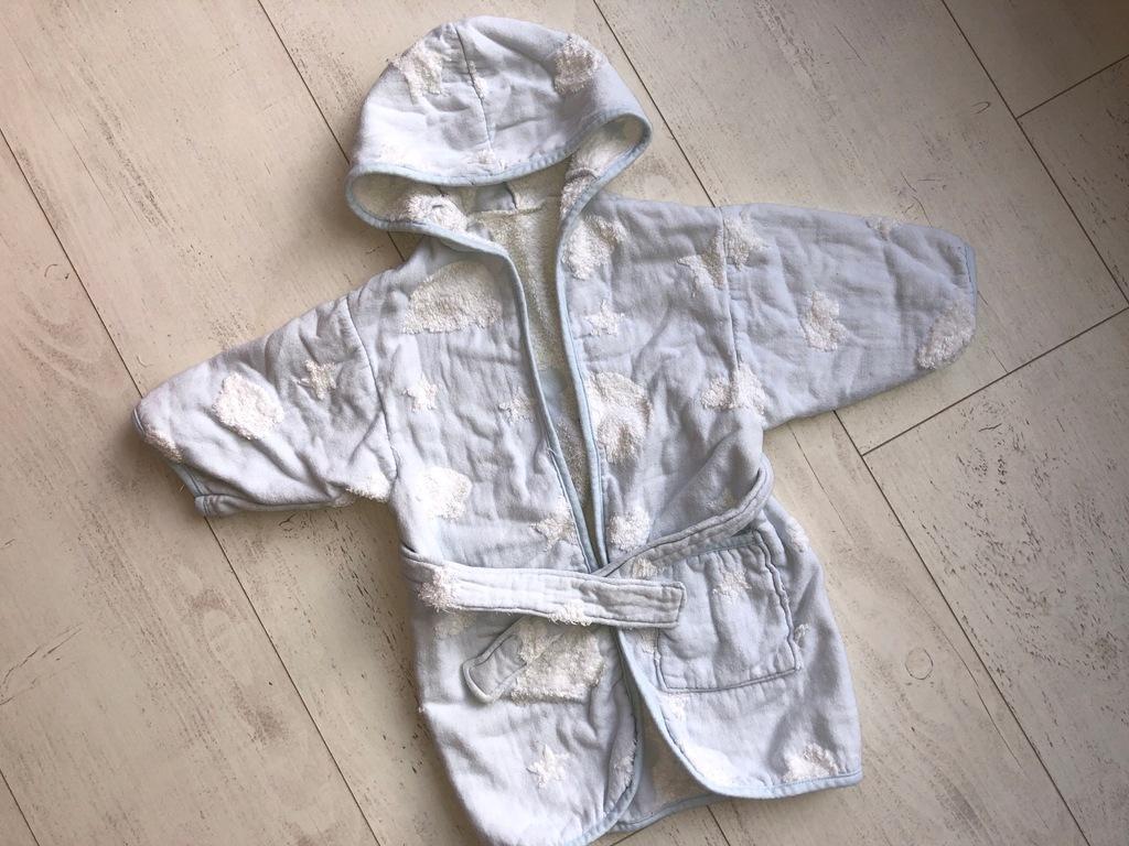 szlafrok dziecięcy bawełna na 1,5 - 2 lata 86cm