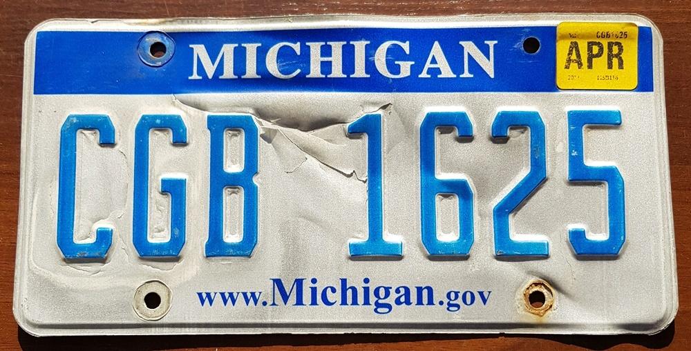 Tablica Rejestracyjna Usa Michigan 2018 8113719537 Oficjalne Archiwum Allegro