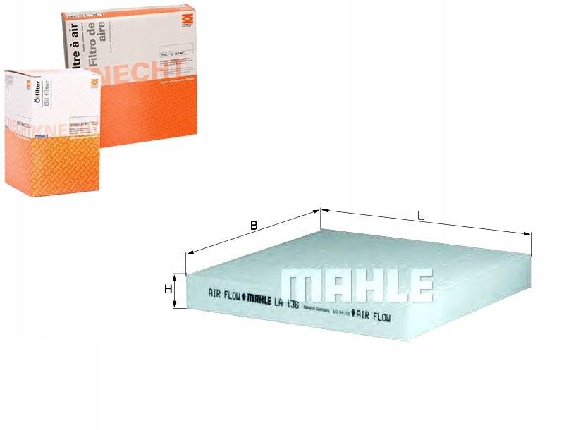 FILTR KABINOWY RENAULT LAGUNA II 1.6 16V (BG1G. BG