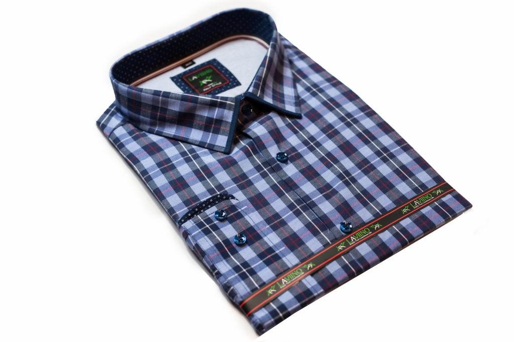 DUŻA koszula męska niebieska w kratkę 5253 7644116802  xhCip