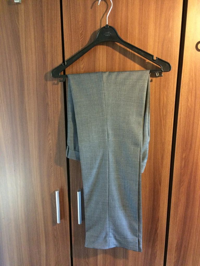 Spodnie wizytowe szare H&M 46 wełna formalne