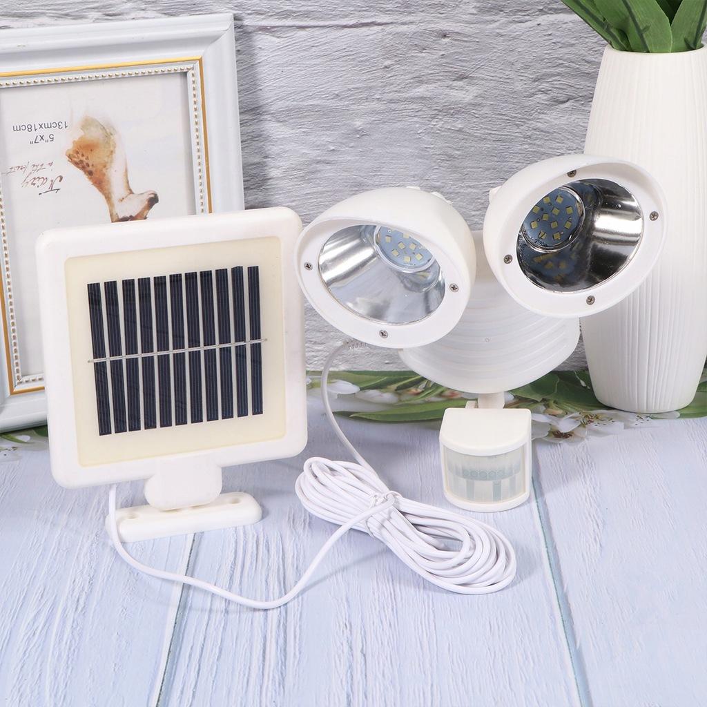 Solar Power Spotlight Podwójna głowica Solar Spotl