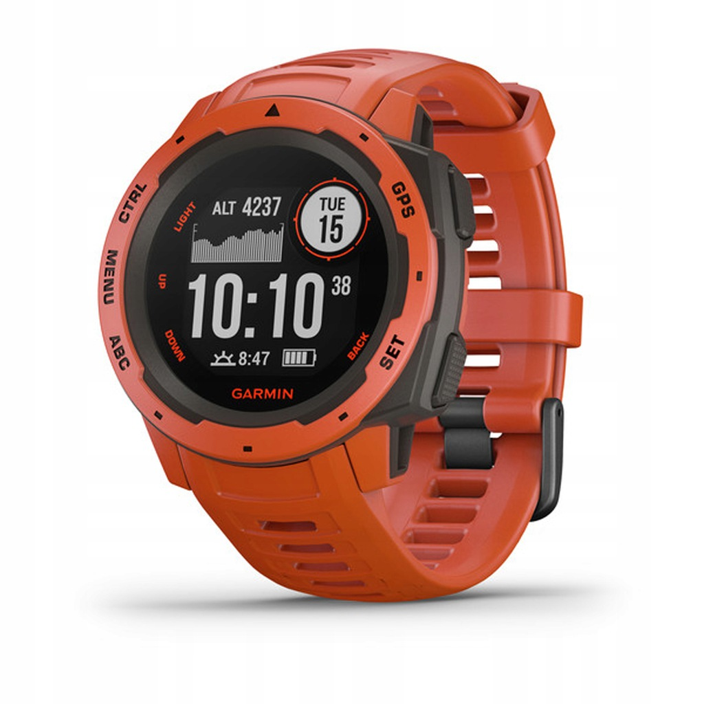 Zegarek sportowy Garmin Instinct czerwony