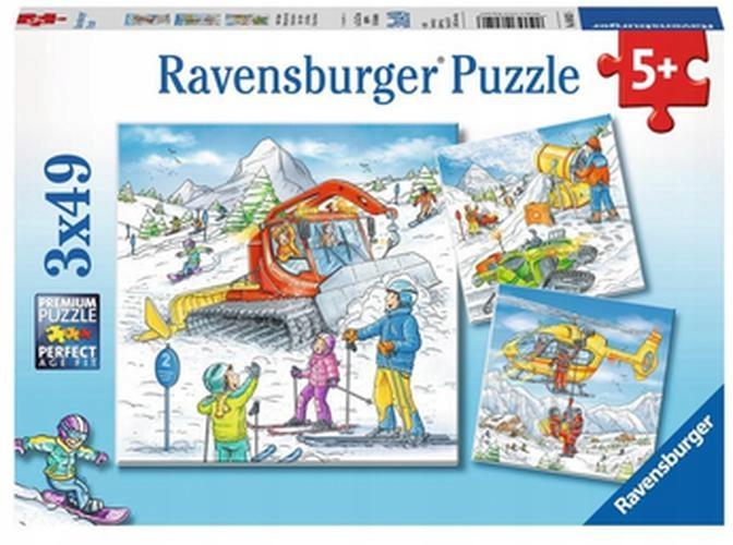 Puzzle 3x49 Śnieżna przygoda