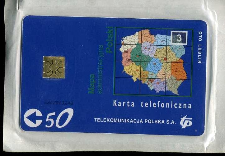 KARTA TELEFONICZNA - MAPA 3 - NOWA