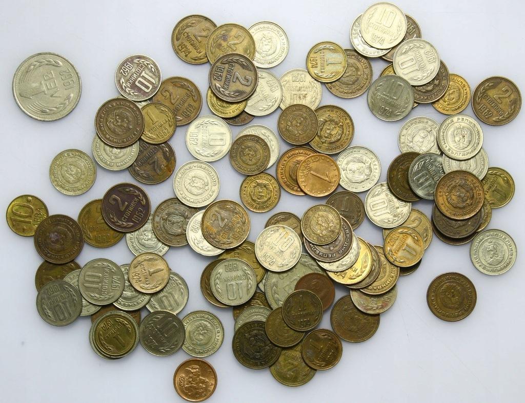 LOT - Bułgaria - 100 monet - zestaw A