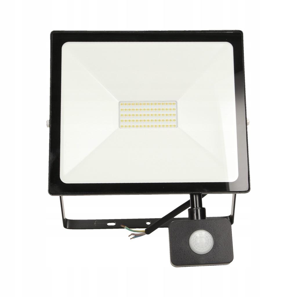Naświetlacz LED 50W czujnik PIR lampa halogen 4000