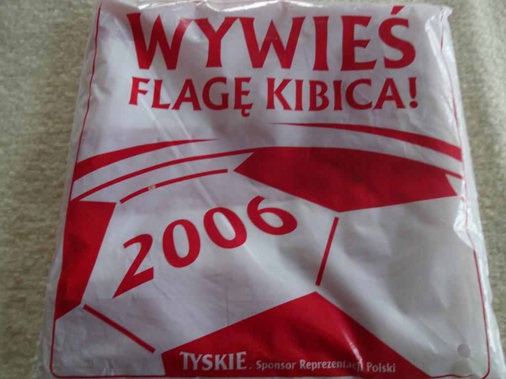 Flaga kibica Polska 2006 Tyski wywieś flagę