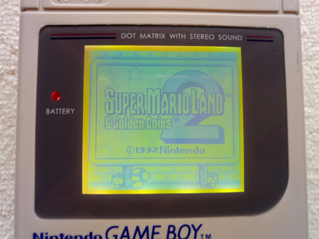 Game Boy Classic z modem backlight