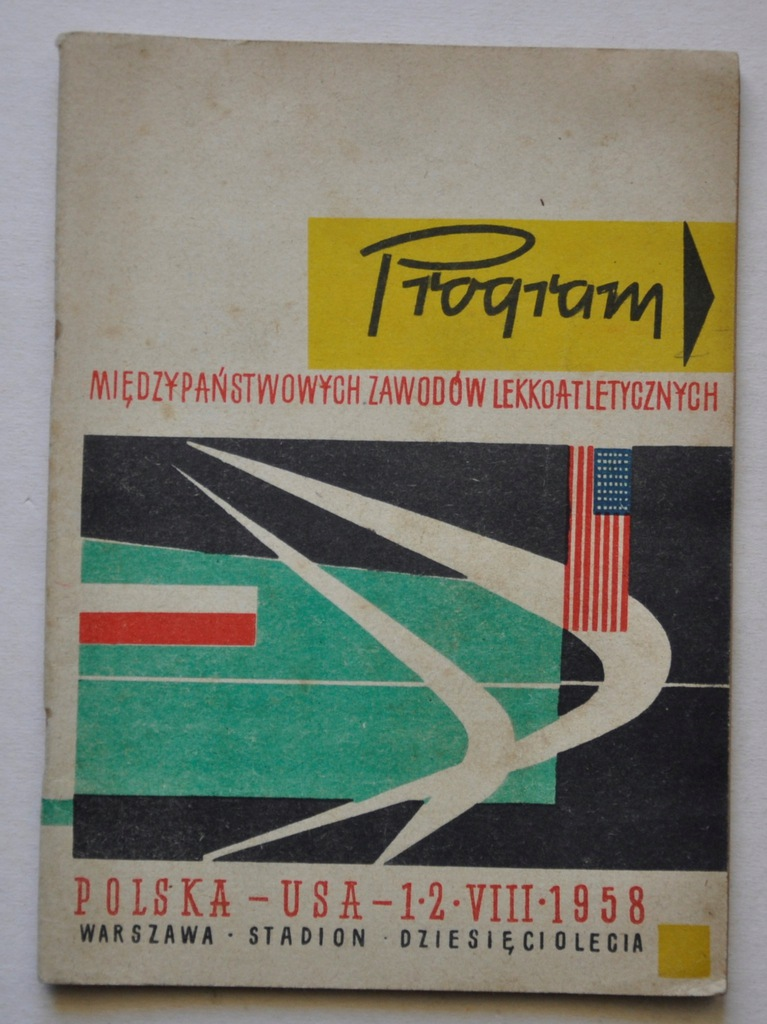 LEKKOATLETYKA ZAWODY USA-POLSKA WARSZAWA 1961