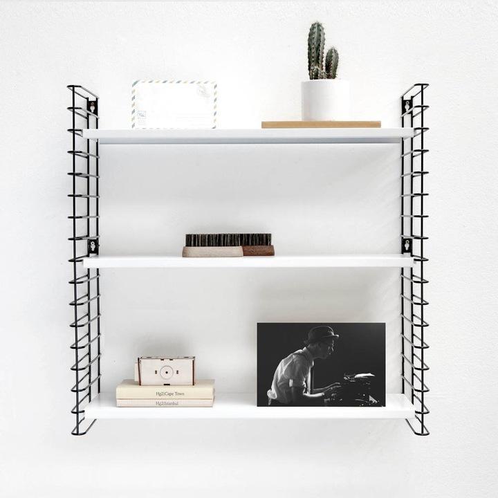 Metaltex Tomado Bookcase with 3/Metal Shelves 70/x 21/x 68/cm