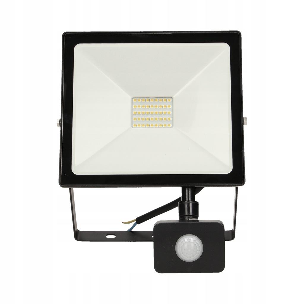 Naświetlacz LED 30W czujnik PIR lampa halogen 4000