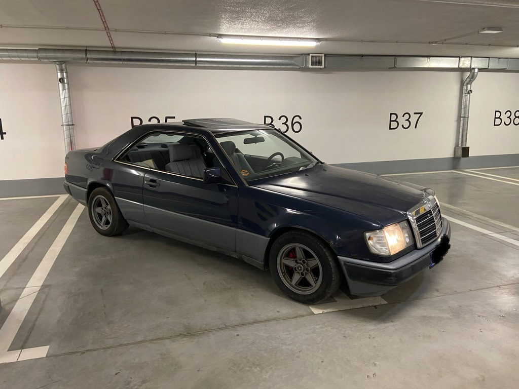 Mercedes w124 w123 coupe 88r 2.3 benz klasyk klin
