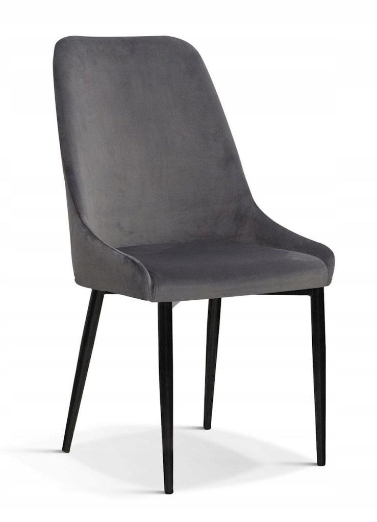 Krzesło OLIVIER M szary/ noga czarna/ BL14
