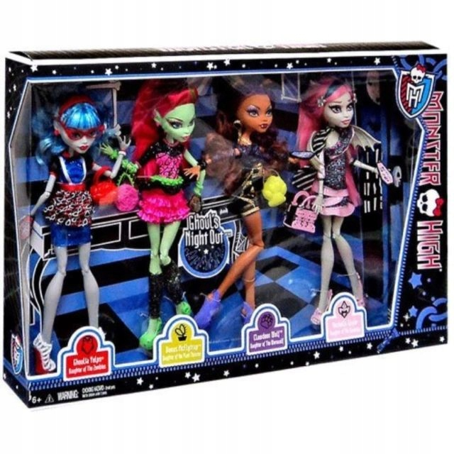 Monster High Ghouls Night Out 4 Pack Unikat Bbr96 7635985537 Oficjalne Archiwum Allegro