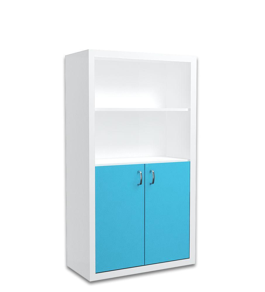 Regał 90cm dla dziecka w kolorze biało-niebieskim