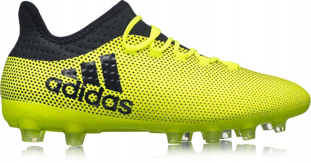 Buty piłkarskie korki X 17.2 Techfit FG Adidas (neonowo