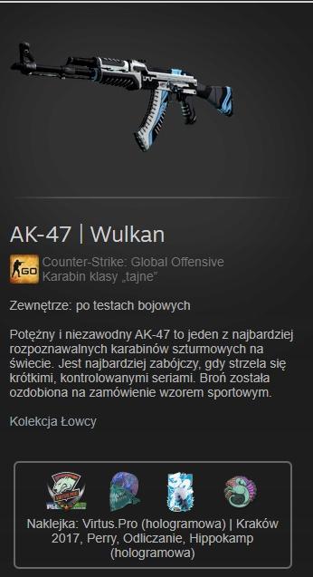 Skiny cs go AK-47 Wulkan