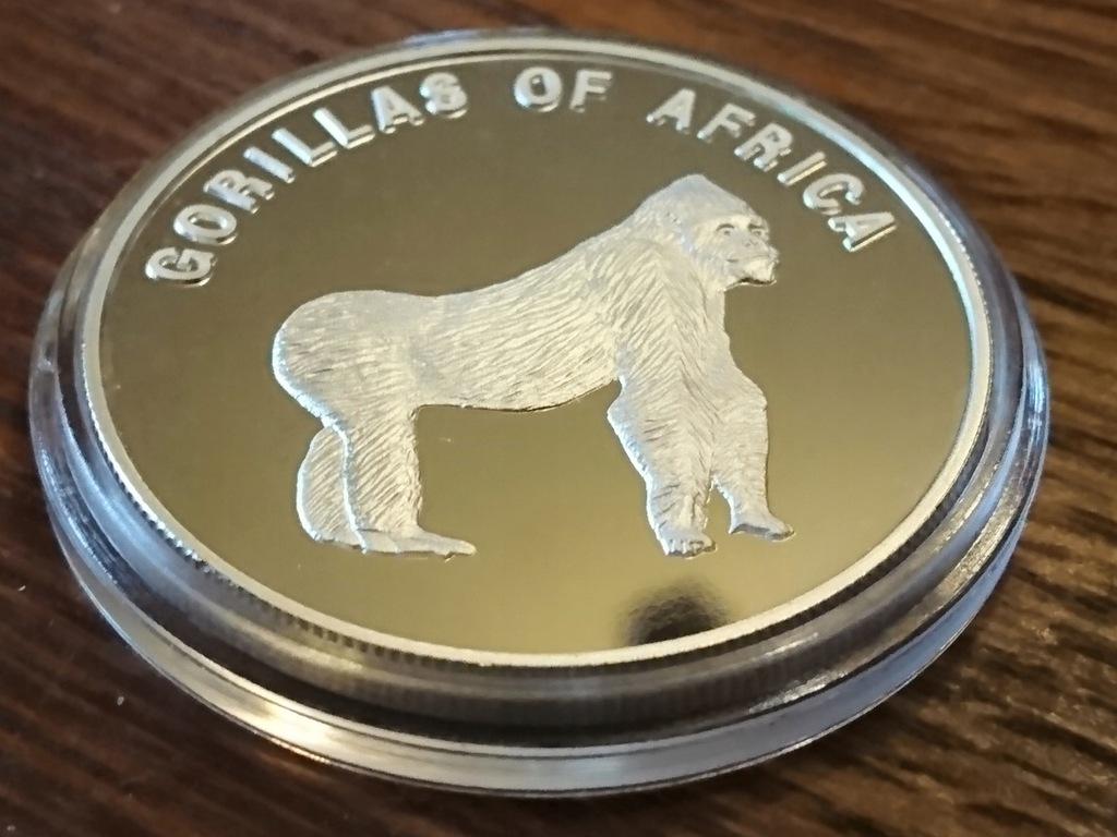 UGANDA 2003 - 1000 szylingów - GORYL 4